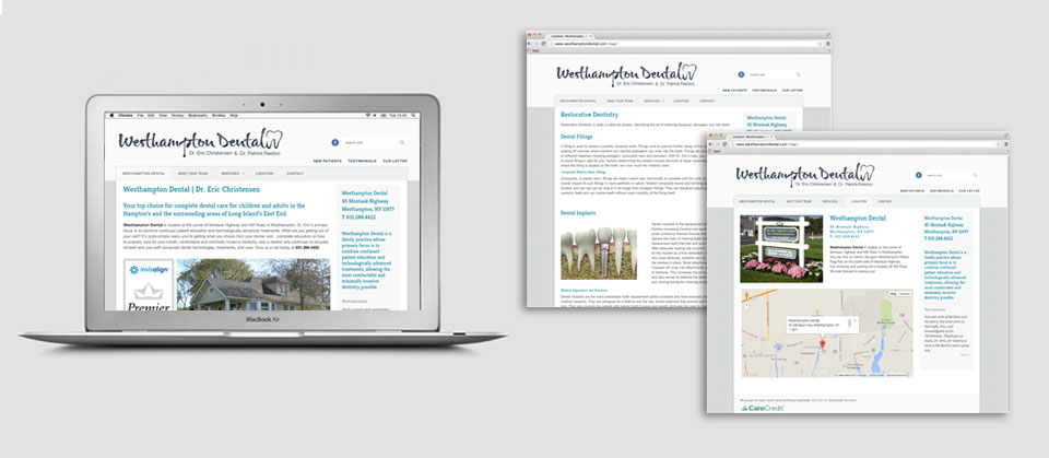 Westhampton Dental Website Design