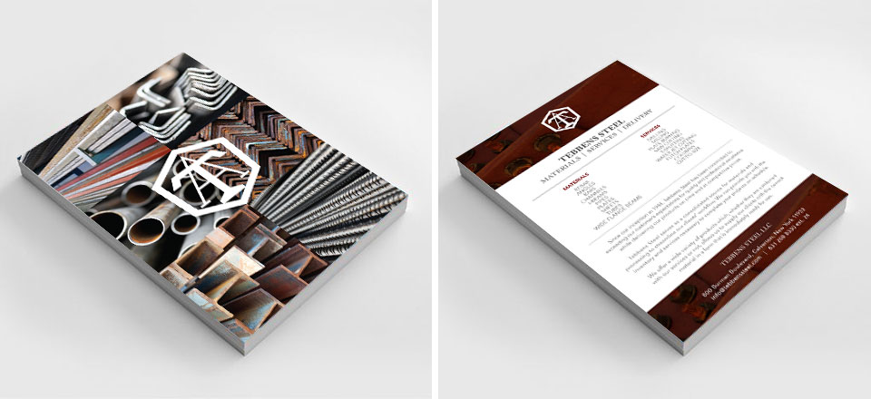Tebbens Steel Flyer, Print Collateral