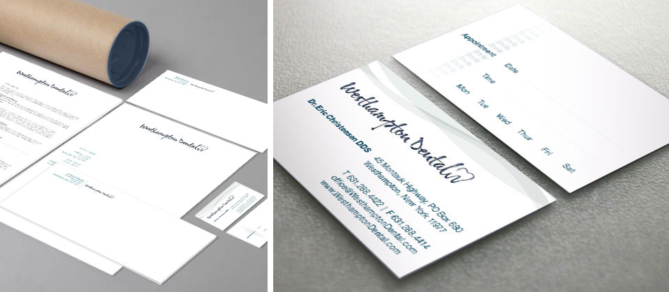 Westhampton Dental | Stationery Packet